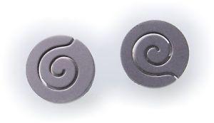 【送料無料】アクセサリー ネックレス イヤリングチタンピンスパイラルマットトップイヤリングコインorecchini spina titanio spirale opaca qualit top kn2020 orecchini a bottone