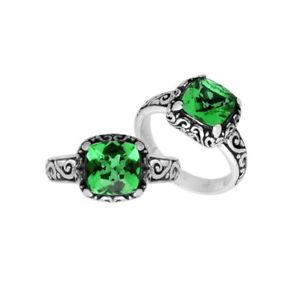 【超お買い得!】 【送料無料】アクセサリー ネックレス スターリングシルバーグリーンクォーツクッションリングargento sterling cuscino forma anello con quarzo verde ar6182gq8, サクレ 12a144e0