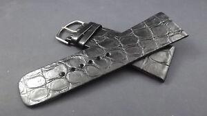 【送料無料】アクセサリー ネックレス ブレスレットワニノワールディスポデbracelet montre en crocodile vritable noirdispo de 26 30mm