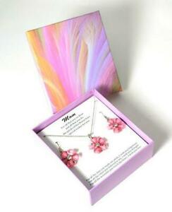 【送料無料】アクセサリー ネックレス コレクションピンクマルゲリータペンダントイヤリングセットthe olivia collection rosa margherita ciondolo e orecchini mom set regalo