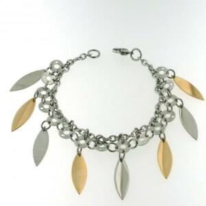 【送料無料】アクセサリー ネックレス スティールブレスレットブロンズbellissimo bracciale acciaio donna pendenti bronzo
