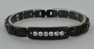 【送料無料】アクセサリー ネックレス ブレスレットチタンクリスタルヒーリングブレスレットbracciale magnetico donna titanio autentico cristallo guarigione artrite aiuto braccialetto