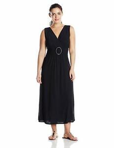 【送料無料】アクセサリー ネックレス リングサイズプラスアメリカstar vixen womens plussize maniche oring maxidress,, nero, taglia 2x plus usa