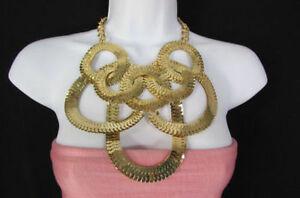 【送料無料】アクセサリー ネックレス ゴールドリングネックレスペンダントdonna metallo oro anelli collana alla moda spesso catenine geometrico ciondolo