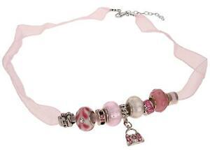 【送料無料】アクセサリー ネックレス ピンククリスタルネックレスビーズtoc beadz cristallo rosa delicato organza collana di perline