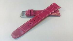 【送料無料】アクセサリー ネックレス ブレスレットクラシックローズクロコダイルbracelet montre modle classique rose en crocodile,disponible en 18 et 20mm