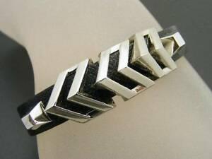 【送料無料】アクセサリー ネックレス ビンスガロンピラミッドボタンカフvince camuto nero, in pelle gallone a v piramide bottone bracciale