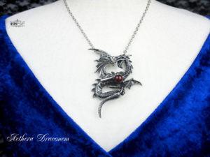 【送料無料】アクセサリー ネックレス ネックレスピューターゴシックドラゴンペンダントcollana donna peltro alchimia gotico drago red orb ciondolo bigiotteria