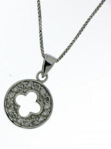 【送料無料】アクセサリー ネックレス シルバーペンダントネックレスcollana pendente argento 925 con brillanti luminosi