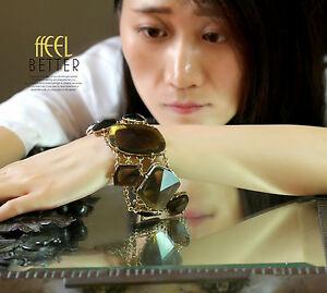 【送料無料】アクセサリー ネックレス アールデコモダンオリジナルカフbracciale da donna art deco marrone grande magnetico originale moderno regalo
