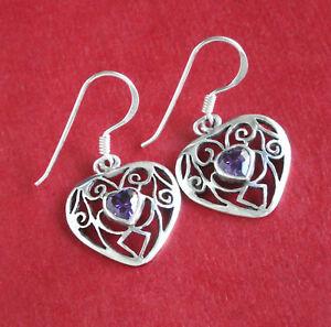 【送料無料】アクセサリー ネックレス アルジェントシルバーイヤリングヌフboucles doreilles coeur argent 925 amthyste sliver earrings bjbd0274 neuf