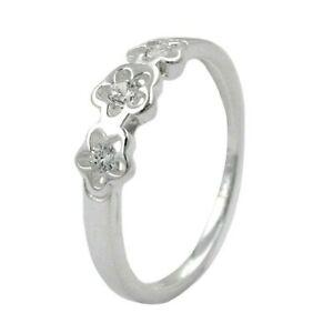 【送料無料】アクセサリー ネックレス リングリングポンドanello anello per bambini con zirconi, 3 fiori, 925 sterling per bambini