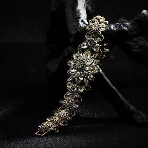 送料無料 アクセサリー ネックレス クリスタルレトロビンテージクラスbraccialetto dorato fiore cristallo brillante retr antico vintage classBerWdCxo