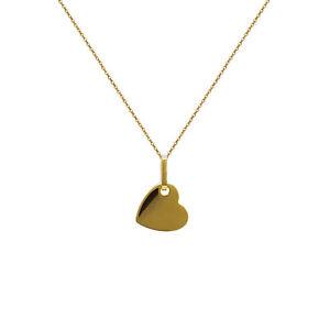 【送料無料】アクセサリー ネックレス コリアープチクールアムールプラークヌフcollier petit coeur amour en plaque or neuf longueur au choix 45cm ou 50cm