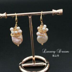 【送料無料】アクセサリー ネックレス パールピンクドロップイヤリングorecchini perla coltivazione rosa goccia legato in su artigianale placcato oro