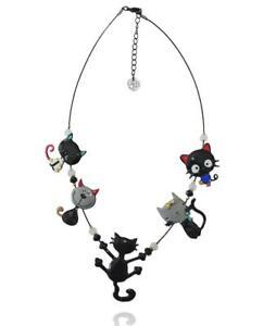 【送料無料】アクセサリー ネックレス ネックレスlol bijoux collana gatto farandole nero