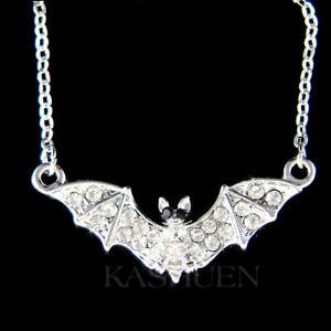 【送料無料】アクセサリー ネックレス バットスワロフスキークリスタル~ night pipistrello fatto con swarovski cristallo costume halloween vampiro