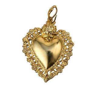 【送料無料】アクセサリー ネックレス pendente cuore exvoto arg 800 dorato