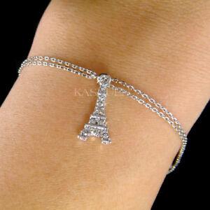 【送料無料】アクセサリー ネックレス エッフェルスワロフスキークリスタルパリチェーンtorre eiffel fatto con swarovski cristallo paris france souvenir 2 catena