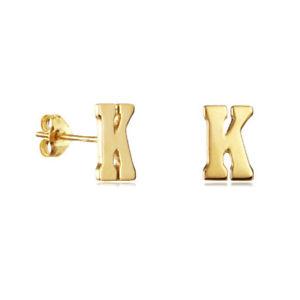 【送料無料】アクセサリー ネックレス イエローゴールドシルバーアルファベットイヤリングメッキ38 iniziale lettera alfabeto orecchini in oro giallo placcato argento