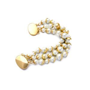 【送料無料】アクセサリー ネックレス マルチネックレスレトロクラスbraccialetto dorato multi tre collana perla magnetico retr class matrimonio ct