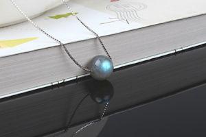 【送料無料】アクセサリー ネックレス ネックレスペンダントショートパールマッシフシンプルcollana corto pendente perla labradorite argento sterling massiccio 925 semplice