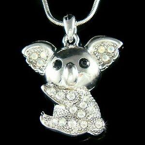 【送料無料】アクセサリー ネックレス テディベアコアラオーストラリアオージーテディウォンバットスワロフスキークリスタル~ orsetto koala ~~ australia aussie teddy wombat fatto con swarovski cristallo
