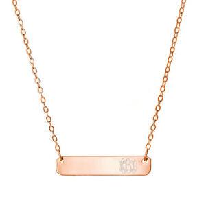 【送料無料】アクセサリー ネックレス カスタマイズバーネックレスペンダントゴールドメッキシルバーピンクpersonalizzati 1 nome barra collana ciondolo in argento placcato oro rosa