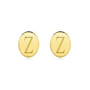 送料無料 アクセサリー ネックレス イエローゴールドシルバーディスクイヤリングメッキ12iniziale disco ovale orecchini in oro giallo placcato argentoXZTPOkiu
