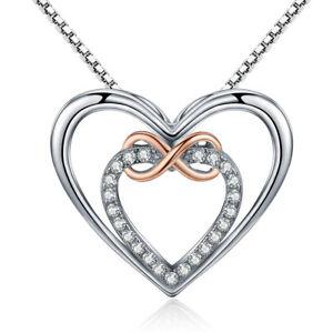 【送料無料】アクセサリー ネックレス ペンダントネックレススターリングシルバーダブルciondolo collana argento sterling 925 infinity doppio cuore