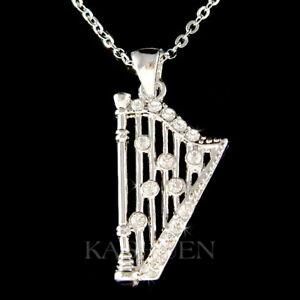 【送料無料】アクセサリー ネックレス スワロフスキークリスタルアイルランドセルティックハープceltico arpa fatto con swarovski cristallo irlandese sposa strumento musicale
