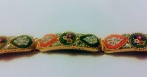【送料無料】アクセサリー ネックレス オリジナルビンテージイタリアマイクロモザイクパネルカフoriginale vintage 50s italiano micro mosaico 5 pannello bracciale 195cm