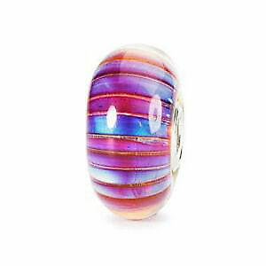 【送料無料】アクセサリー ネックレス ガラスストリップオーロラビードtrollbeads bead in vetro strisce aurora tglbe10172