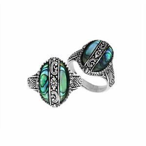 【送料無料】アクセサリー ネックレス アワビシェルスターリングシルバーリングargento sterling anello con abalone shell ar6266ab6