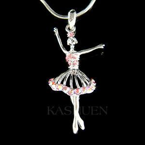 【送料無料】アクセサリー ネックレス サバレリーナスワロフスキークリスタルバレエネックレスクラウン~ rosa ballerina fatto con swarovski cristallo balletto collana corona the