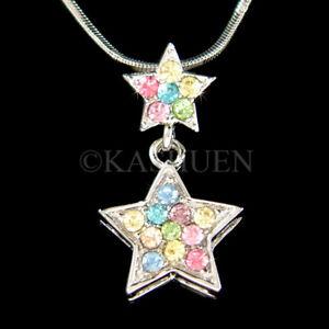 【送料無料】アクセサリー ネックレス スワロフスキークリスタルネックレスtwinkle arcobaleno wish star fatto con swarovski cristallo celestiale collana