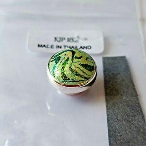 【送料無料】アクセサリー ネックレス nuovo * kameleon glassa verde argento sterling jewelpop kjp182