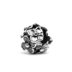【送料無料】アクセサリー ネックレス シルバービードtrollbeads bead in argento fiori ortensia tagbe10047