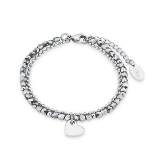 【送料無料】アクセサリー ネックレス オリバースチールブレスレットシルバーハートカフsoliver jewel bracciale da donna bracciale acciaio argento cuore 2018344
