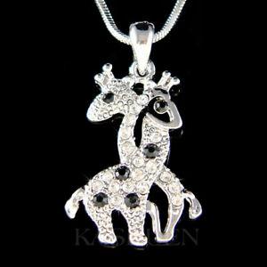 【送料無料】アクセサリー ネックレス スワロフスキークリスタルラブサファリキリン~giraffa amante~ fatto con swarovski cristallo love animali safari moglie mom