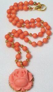 【送料無料】アクセサリー ネックレス セルロイドピンクネックレスbella collana di corallo con celluloide corallo rosa, lungo 18 34