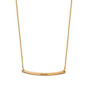 【送料無料】アクセサリー ネックレス ピンクバーシルバーネックレスincisibile 25 curvo barra argento collana in placcato oro rosa