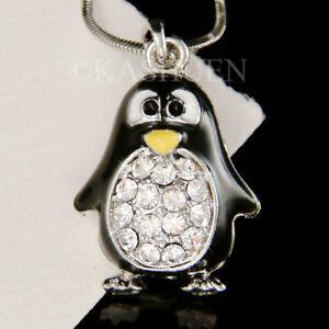 【送料無料】アクセサリー ネックレス ペンギンスワロフスキークリスタルネックレスnero bianco pinguino imperatore cristallo swarovski collana bambine