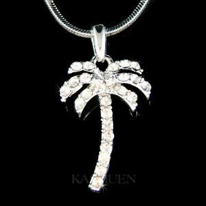 【送料無料】アクセサリー ネックレス パームツリースワロフスキークリスタルビーチハワイトロピカルネックレスalbero di palma fatto con swarovski cristallo spiaggia hawaii tropicale collana