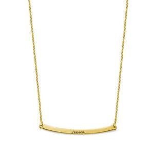 【送料無料】アクセサリー ネックレス カーブバーシルバーネックレスincisibile 25 curvo barra argento collana in yellowgold placcato