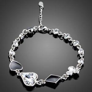 【送料無料】アクセサリー ネックレス ブレスレットlittle braccialetto di cristallo a forma di cuore per le donne signore ragazze mb0103