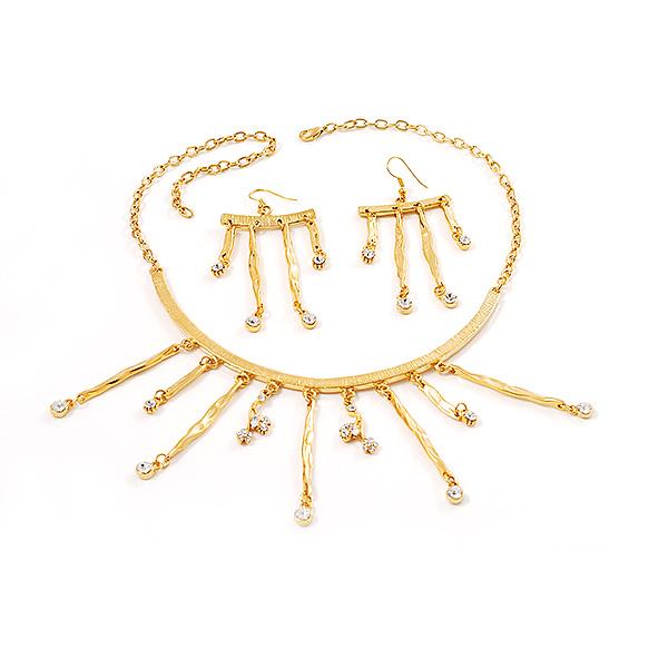 【送料無料】アクセサリー ネックレス ゴールドファッションセットoro martellata scollegati fashion set