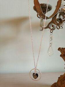 【送料無料】アクセサリー ネックレス コリアアルジェントクールスワロフスキークリスタルブロンズcollier chane argent 925 coeur swarovski crystal bronze