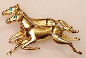 【送料無料】アクセサリー ネックレス ビンテージクリスタルヴェールbroche vintage couleur or rhodi 2 chevaux cristal vert top qualit numrot 626