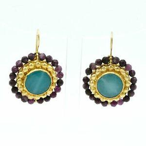 【送料無料】アクセサリー ネックレス ストーンハンドメイドイヤリングaylas placcato oro semi preziosi gem stone agata giada handmade earrings